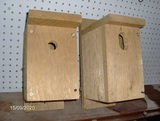 2 Wood Birdhouses