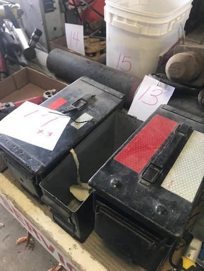 3 ammo boxes