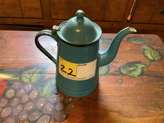 Enamelware Quart Coffee Pot