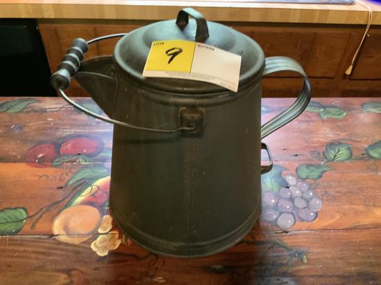 Black Enamel Campfire Coffee Pot