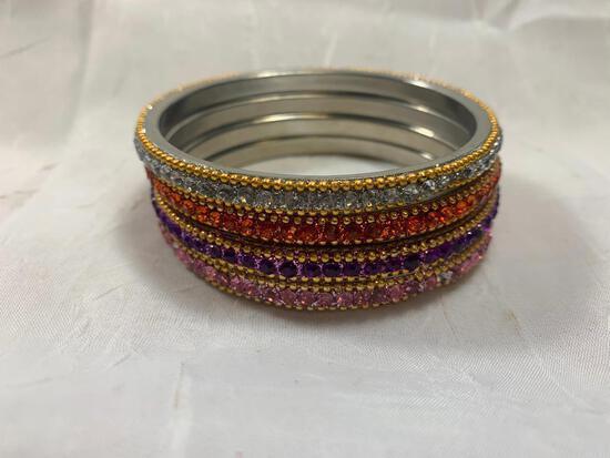 Colored Bracelets in Box (4 Total)