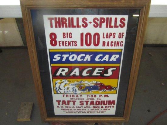 TAFT STADIUM RACING POSTER, 26X21