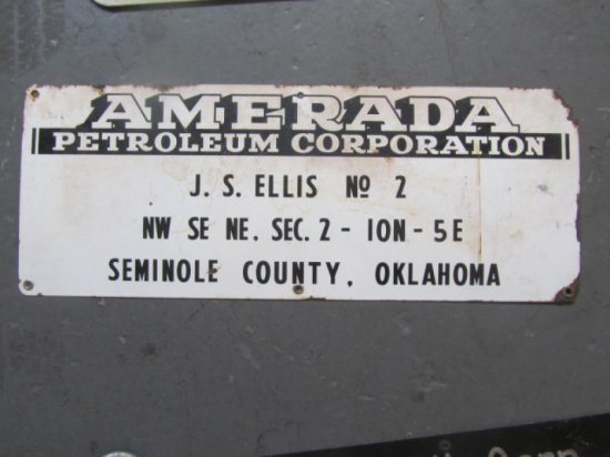 AMERADA LEASE SIGN , 10X24