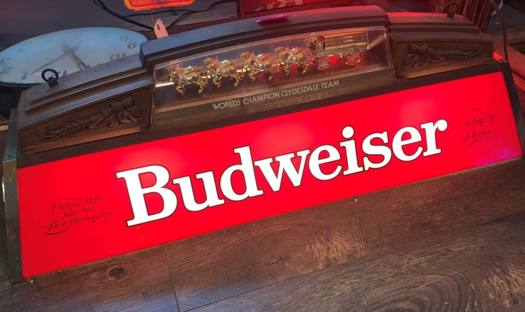 "Budweiser Pool Table Light 14""x40""x12""tall"
