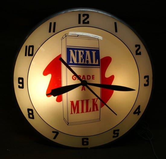 Neal Grade A Milk original Double Bubble Clock