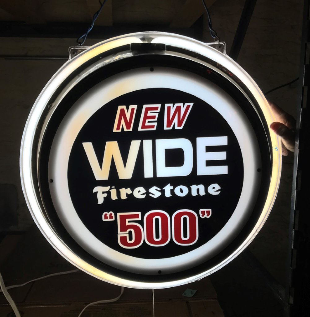 Firestone Tires 500 Double Sided Neon Lite Sign