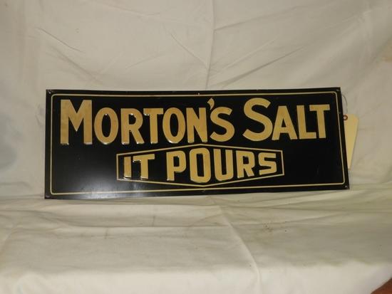 """Morton's Salt It Pours, SST, embossed, 27""""X10"""""""