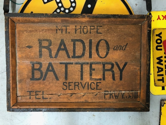 Mt. Hope Radio and Battery Service sign