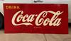 Drink Coca Cola Tack Up Sign SST 32X68