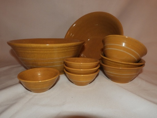 9 pcs - reproduction yellow ware by Ragon House