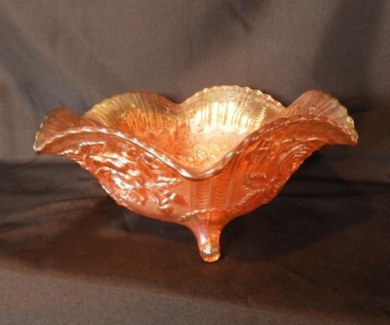 Carnival bowl, rose pattern