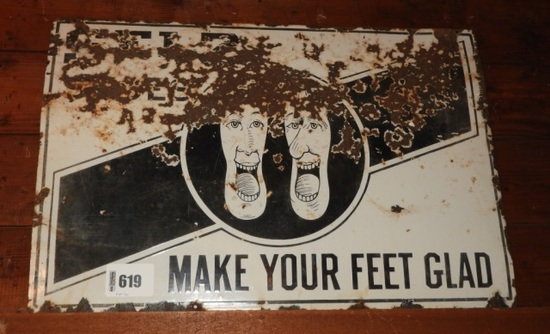 """Selz, Make Your Feet Glad"" SSP sign 24""Tx36""W"
