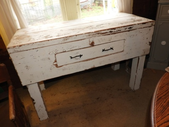 Primitive style table w/ drawer, good for kitchen