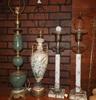 4 decorative antique lamps