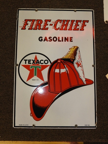 "Texaco Fire Chief pump plate SSP 12""Wx18""T"