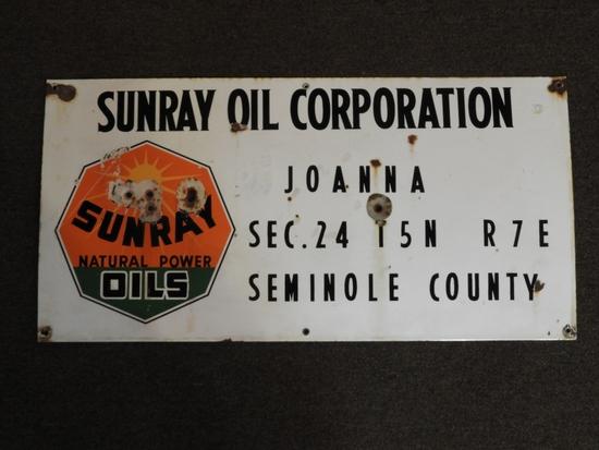 Sunray Oil Corporation lease sign, Seminole County