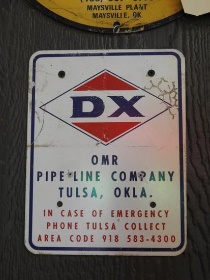 "DX Pipeline sign, Tulsa OK, SST, 7""x9"""