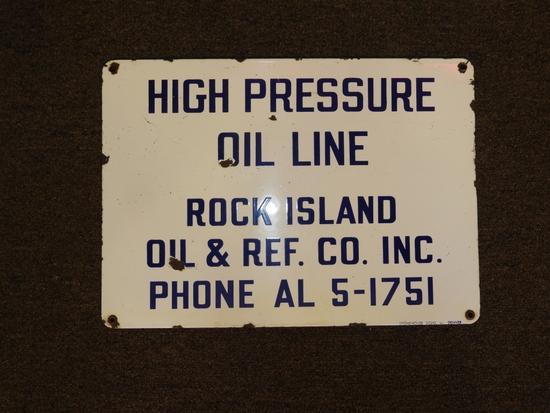 Rock Island Oil & Refining High Pressure Oil Line