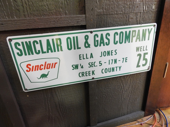 Sinclair Oil & Gas Co. lease sign, Creek County
