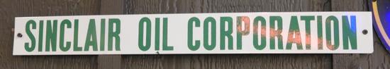 "Sinclair Oil & Gas lease sign, SSP, 25""x3"""