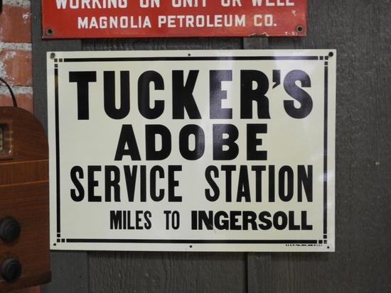 "NOS Tucker's Adobe Service Station SST, 20""x14"""