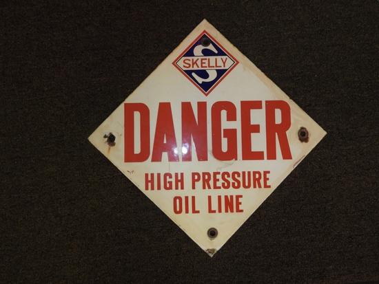 """Skelley Danger sign, 14""""Wx14""""T"""
