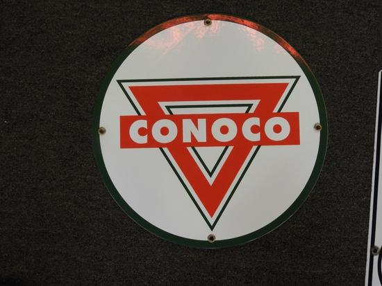 """Conoco porcelain pump plate 12"""""""