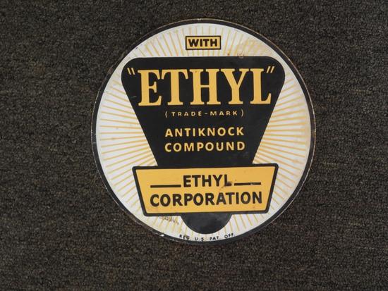 "Ethyl porcelain pump plate, 8"""