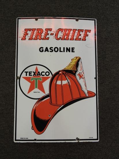 "Texaco Fire Chief pump plate SSP 18"""