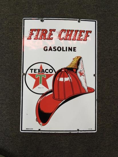 "Texaco Fire Chief pump plate, SSP, 12""Wx18""T"