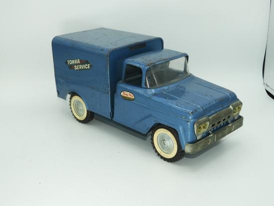 "Tonka Toys stamped steel box truck ""Tonka Service"""