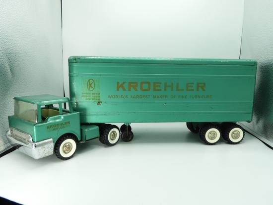 "Structo truck & trailer advertising Croehler, 23""L"