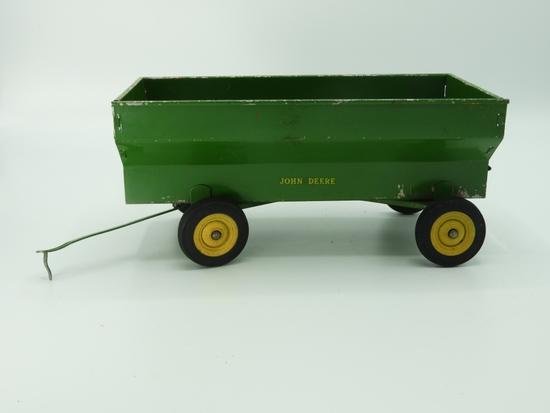 """John Deere 4 wheel grain wagon, 8""""Lx4""""T"""