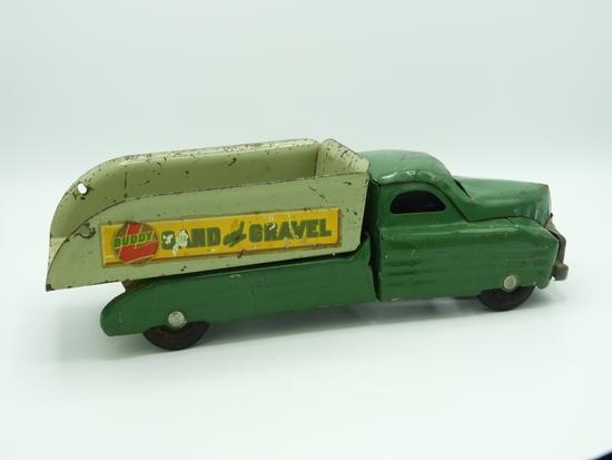 Stamped steel Buddy L sand & gravel dump truck
