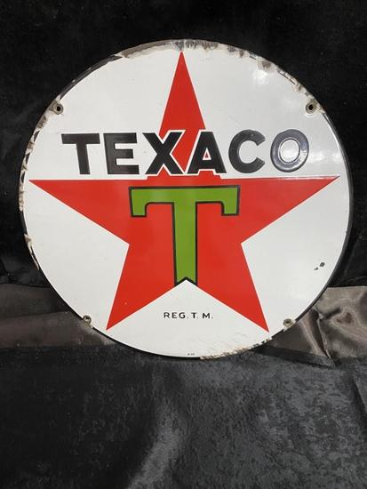 """Texaco SSP 15"""" round, 1936"""