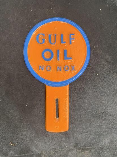 Gulf Oil No-Nox SS aluminum 8x4 1/2