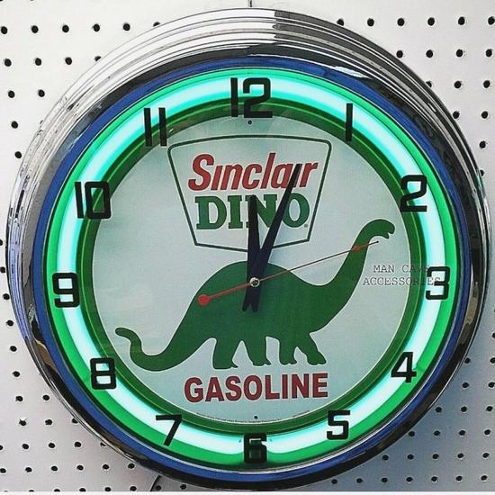 Sinclair neon clock, 20in
