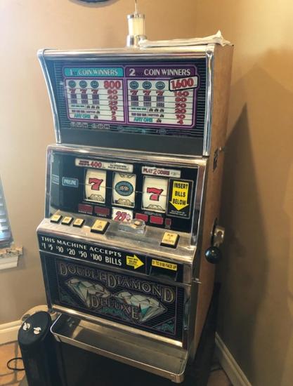 "Slot machine, 42x24x21 with 19"" stand"
