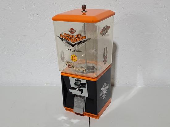 Harley Davidson .25 gumball machine with key