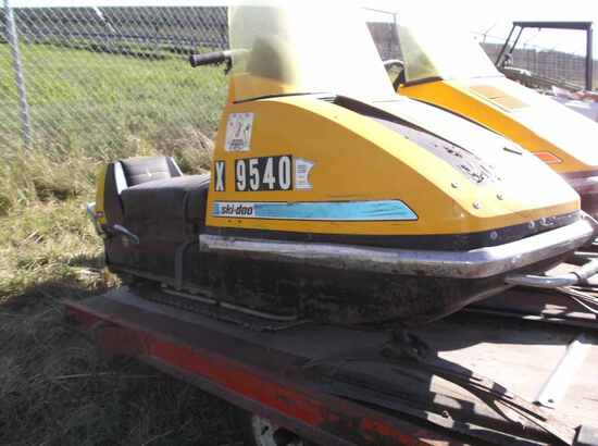 Ski-Doo Snowmobile (2) with Trailer  - No Title