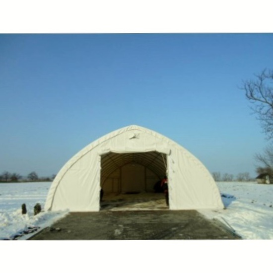 Golden Mount 30' x 65' x 15' Peak Roof Storage Shelter - New!