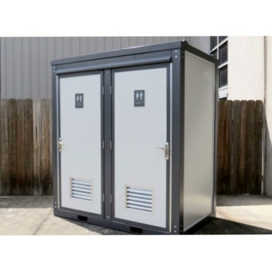Bastone 110V Portable Washroom with Double Toilets and Sinks - New!