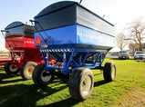 Bruns 400 bu Blue Gravity Box with Horst 14 Ton Running Gear - Like New!