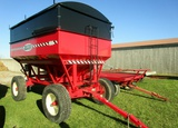 Bruns 400 bu Red Gravity Box with Horst 12 Ton Running Gear - Like New!