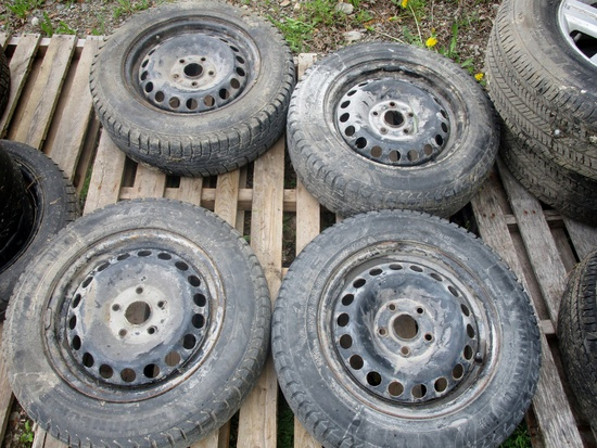 195-65R15 Tires on Steel Rims!
