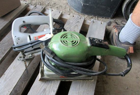 Jig Saw and Orbital Sander!