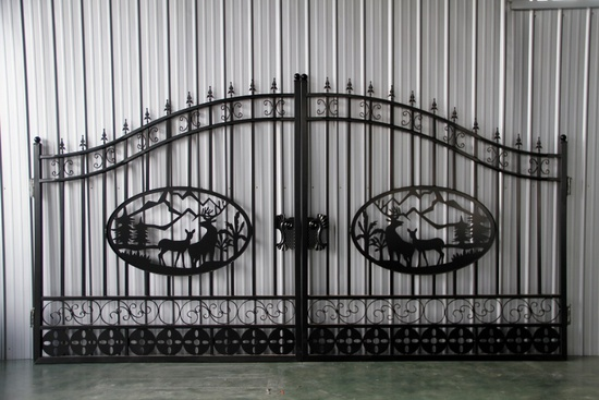 Greatbear 14' Bi-parting Wrought Iron Driveway Gate - New!