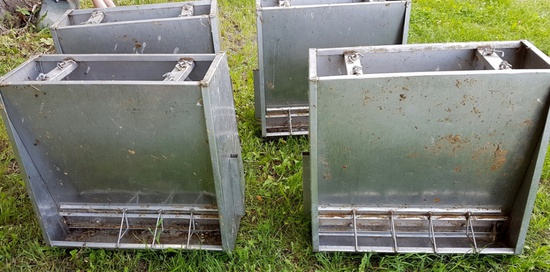 Stainless Steel Small Hog/Lamb Feeders!