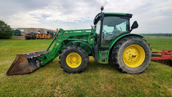 2014 6125R John Deere Loader Tractor with H340 Self Leveling Loader!
