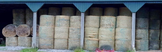 First Cut Hay, Net Wrapped & Stored Inside!